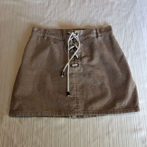 Kendall and Kylie corduroy lace up skirt